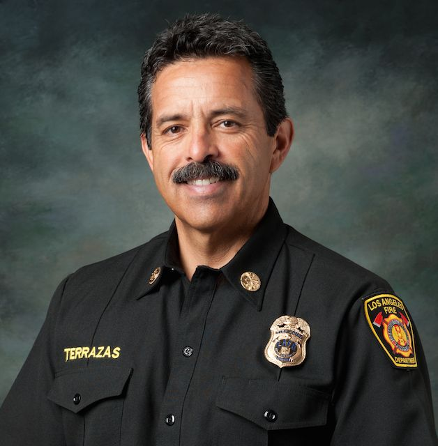 Ralph M. Terrazas Fire Chief of the Los Angeles Fire Department (LAFD).