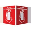 """Fire Extinguisher"" Arrow Stand-Out Sign"
