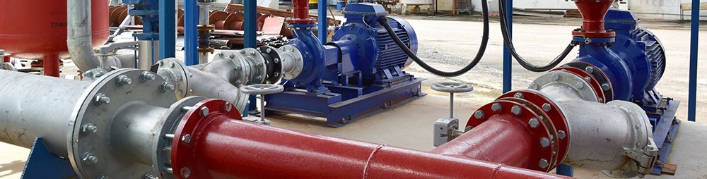 Industrial fire pump system.